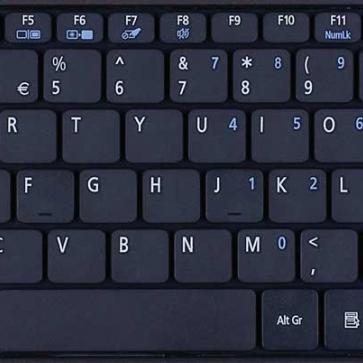 Acer Aspire ONE 722 замена клавиатуры