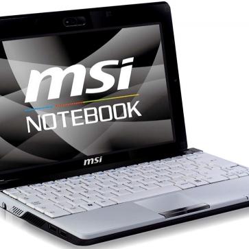 Ремонт ноутбука MSI U120: замена видеочипа, моста, гнезд, экрана, клавиатуры